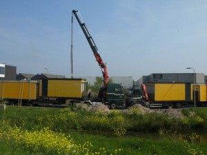 bouwkeet transport